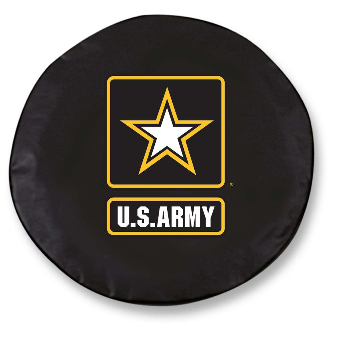 "34"" x 8"" Black United States Army Vinyl Tire Cover"