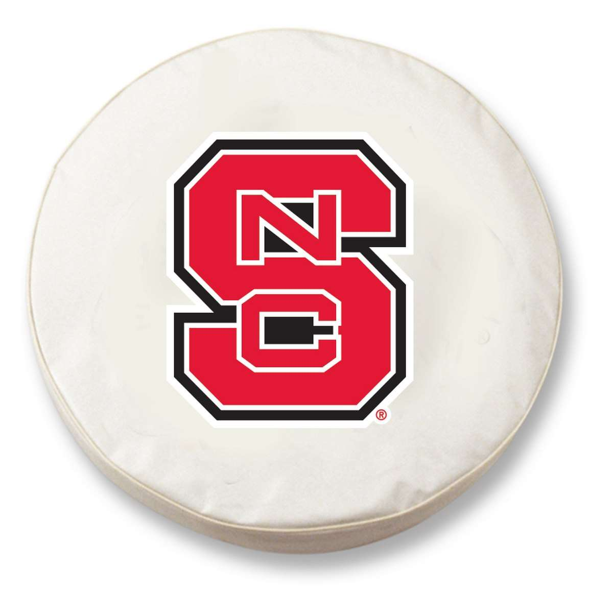 "33"" x 12.5"" White North Carolina State University Vinyl Tire Cover"