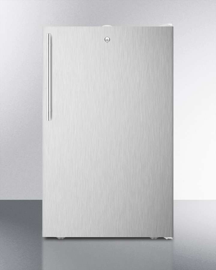 """20"""" 4.1 cu. ft. Stainless Steel Undercounter Compact Refrigerator"""