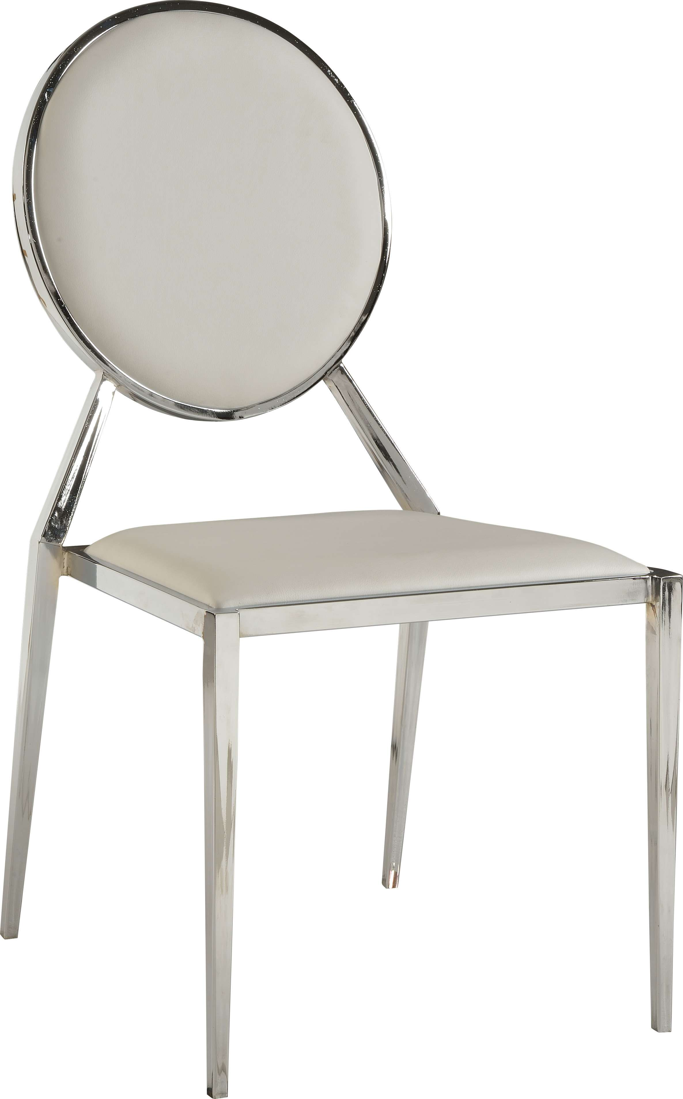 Lisa Oval Shaped Back Side Chair in White - Set of 4