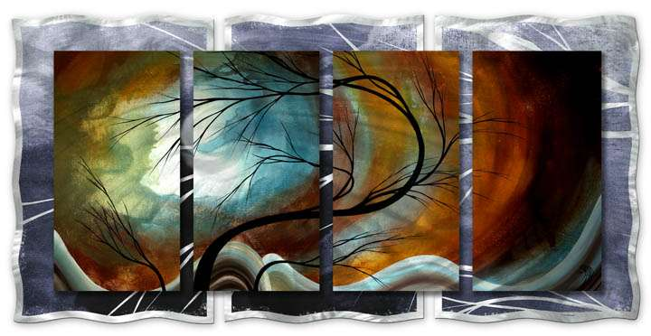 "30"" x 60"" ""Midnight Wind"" Metal Wall Art by Megan Duncanson"