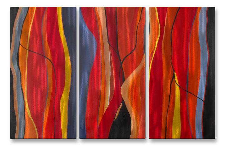 """23.5"""" x 38"""" """"Twisted Lines"""" Metal Wall Art by Ruth Palmer"""