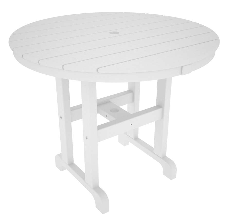 """White Round 36"""" Dining Table"""