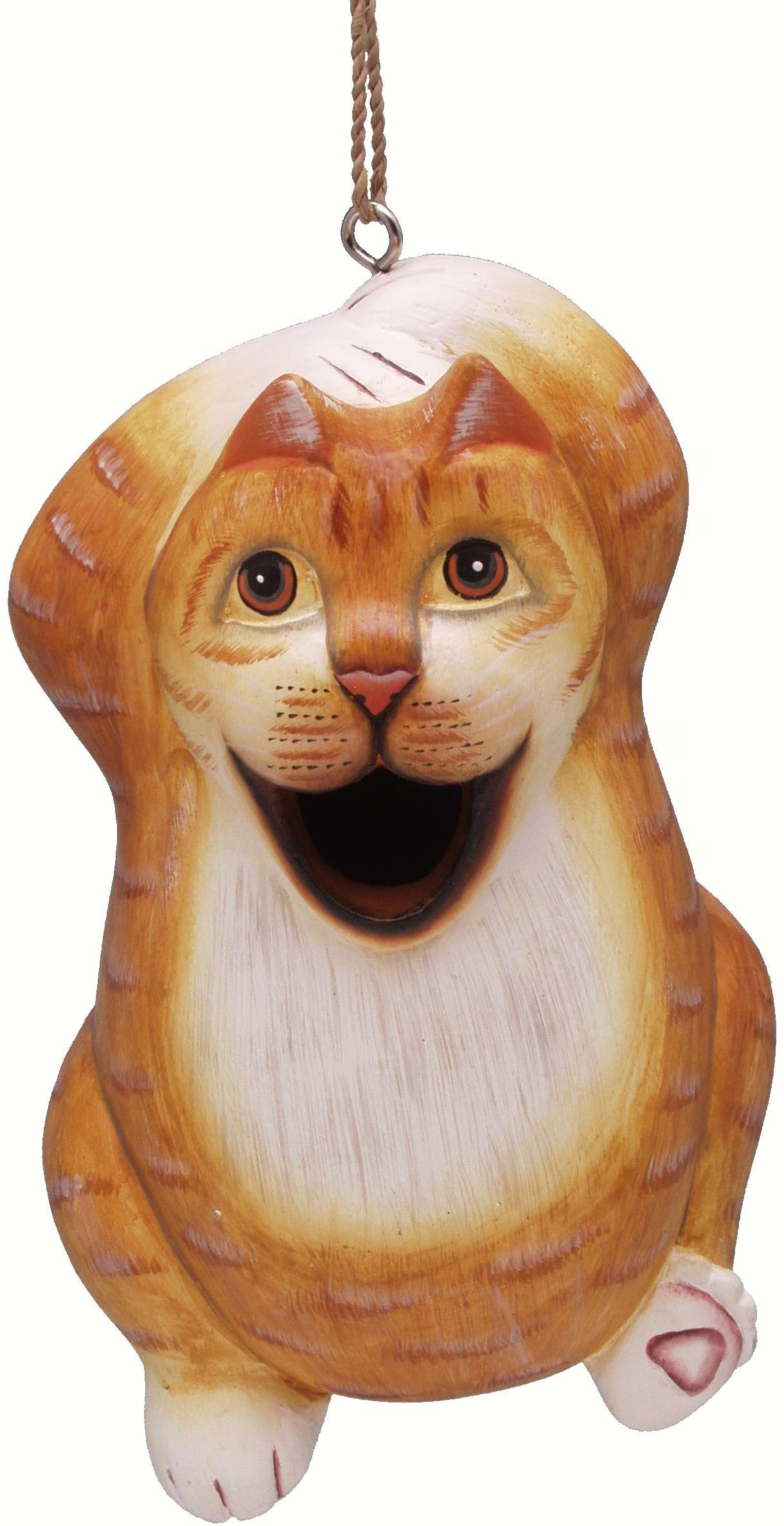 Chillin' Orange Tabby Cat Birdhouse - Quantity 1
