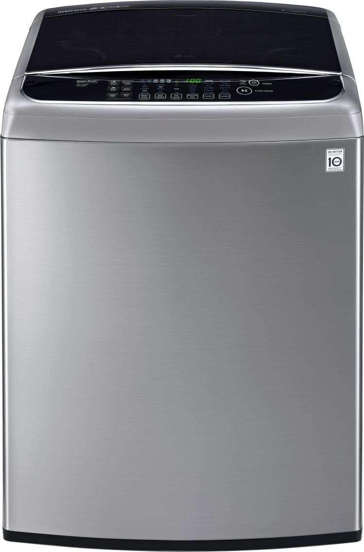 Lg Wt1701cv Turbowash 5 0 Cu Ft Graphite Steel Top Load