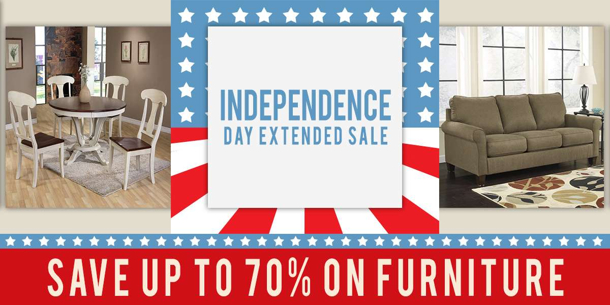 independence Day Sale! Save 70% on furniture!