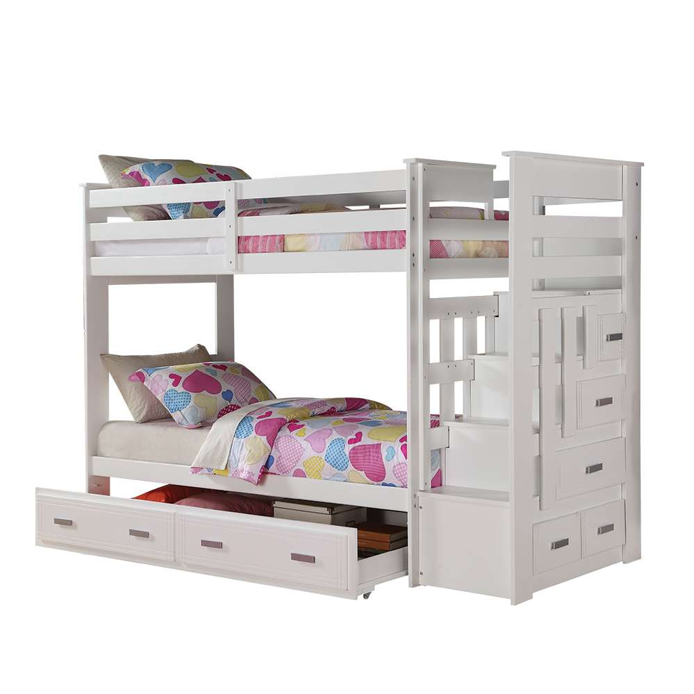 Acme Furniture Allentown White Twin Twin Bunk Bed With Storage