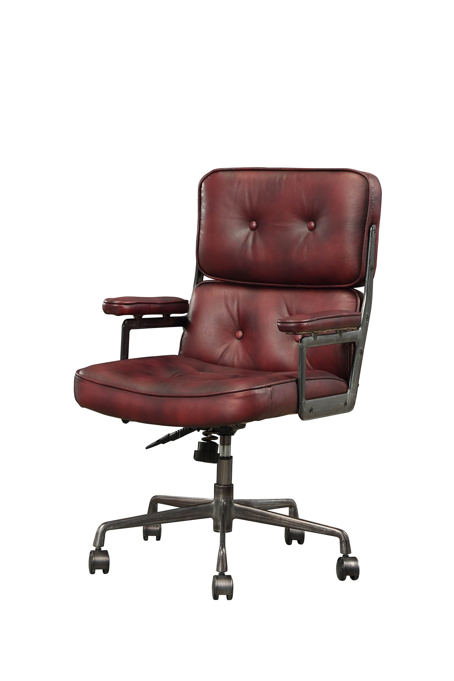 Cool Acme Furniture Larisa Vintage Merlot Top Grain Leather Executive Office Chair Reviews Goedekers Com Gamerscity Chair Design For Home Gamerscityorg