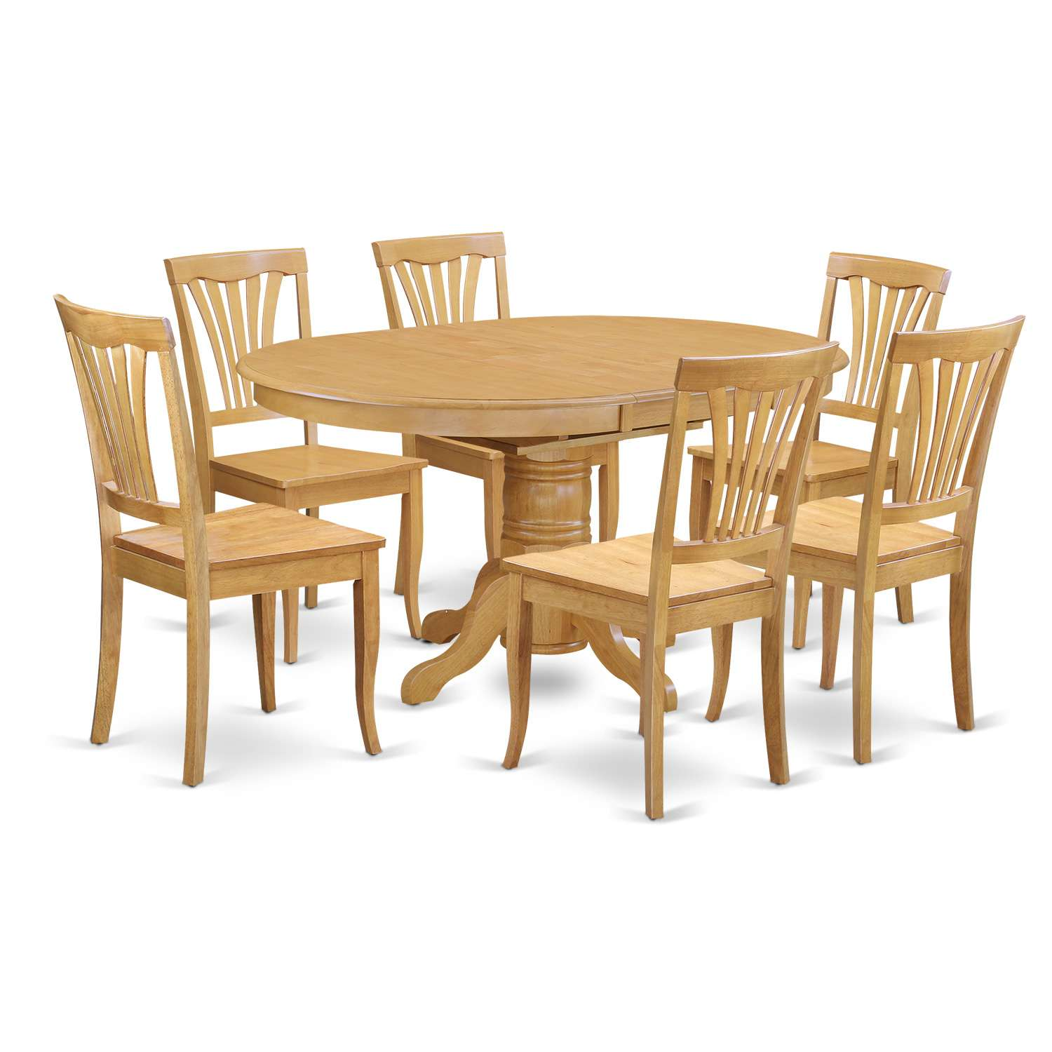 Oak Oval Dining Room Table And Chairs