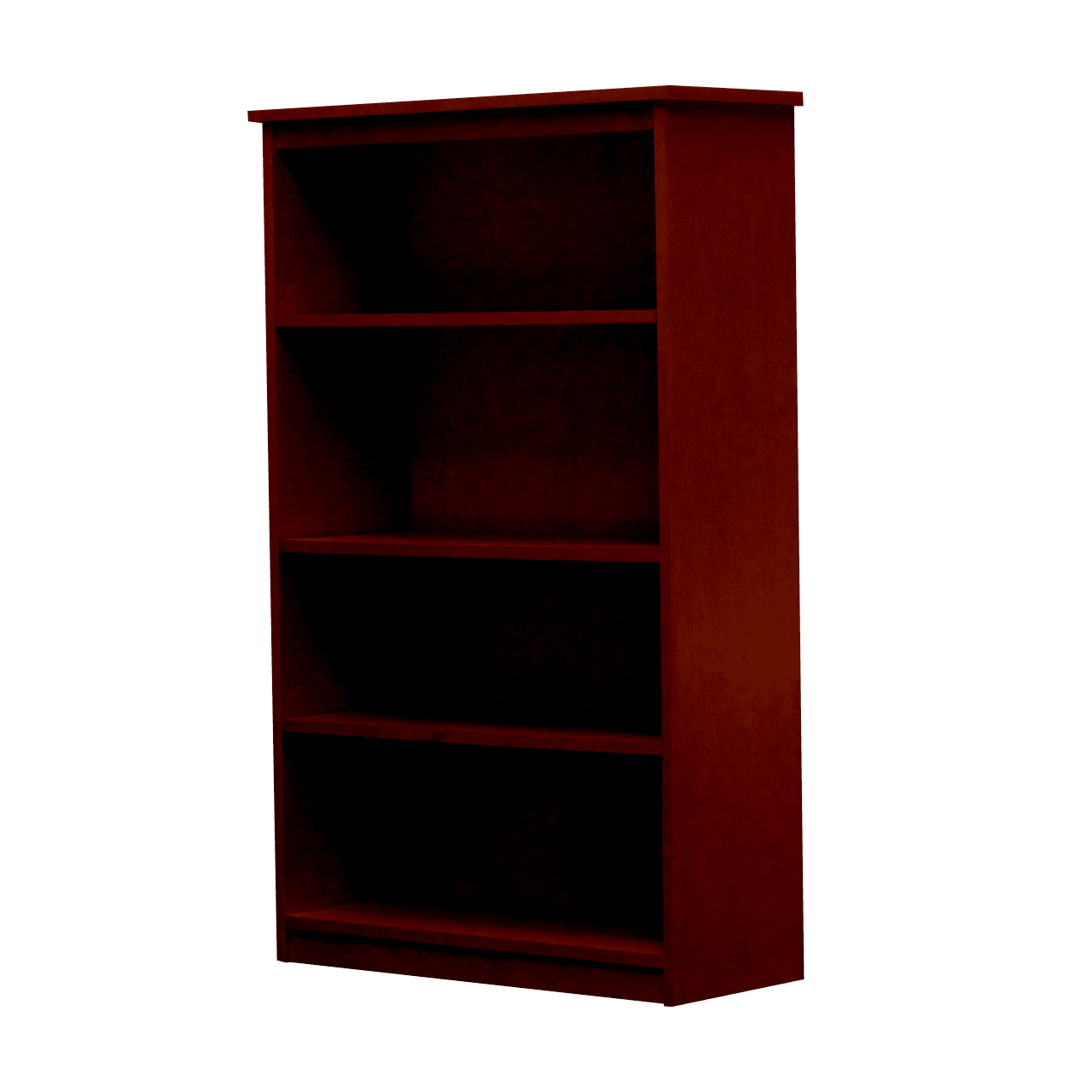 Gothic furniture gr21 b ac lexington birch bookcase with three shelves in antique cherry