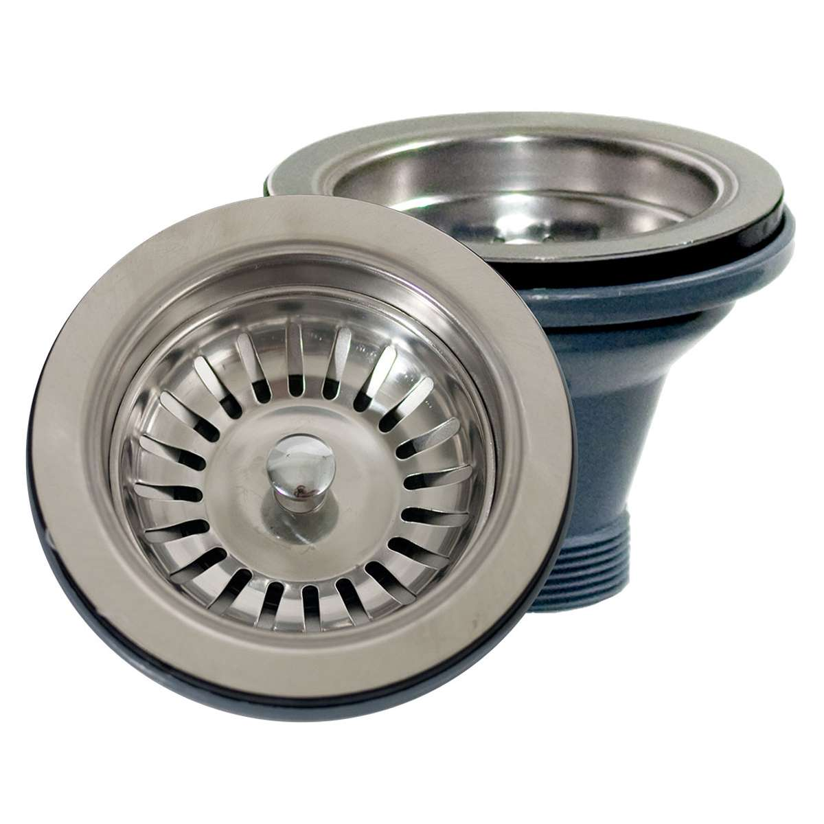 Nantucket sinks ns35l ext premium kitchen brushed satin silver basket strainer drain for fireclay sinks