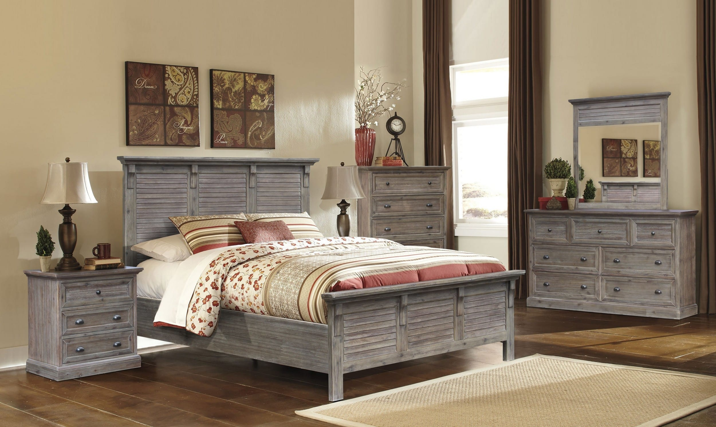Sunset Trading Solstice Weathered Gray & Brown 5-Piece Queen Bedroom ...