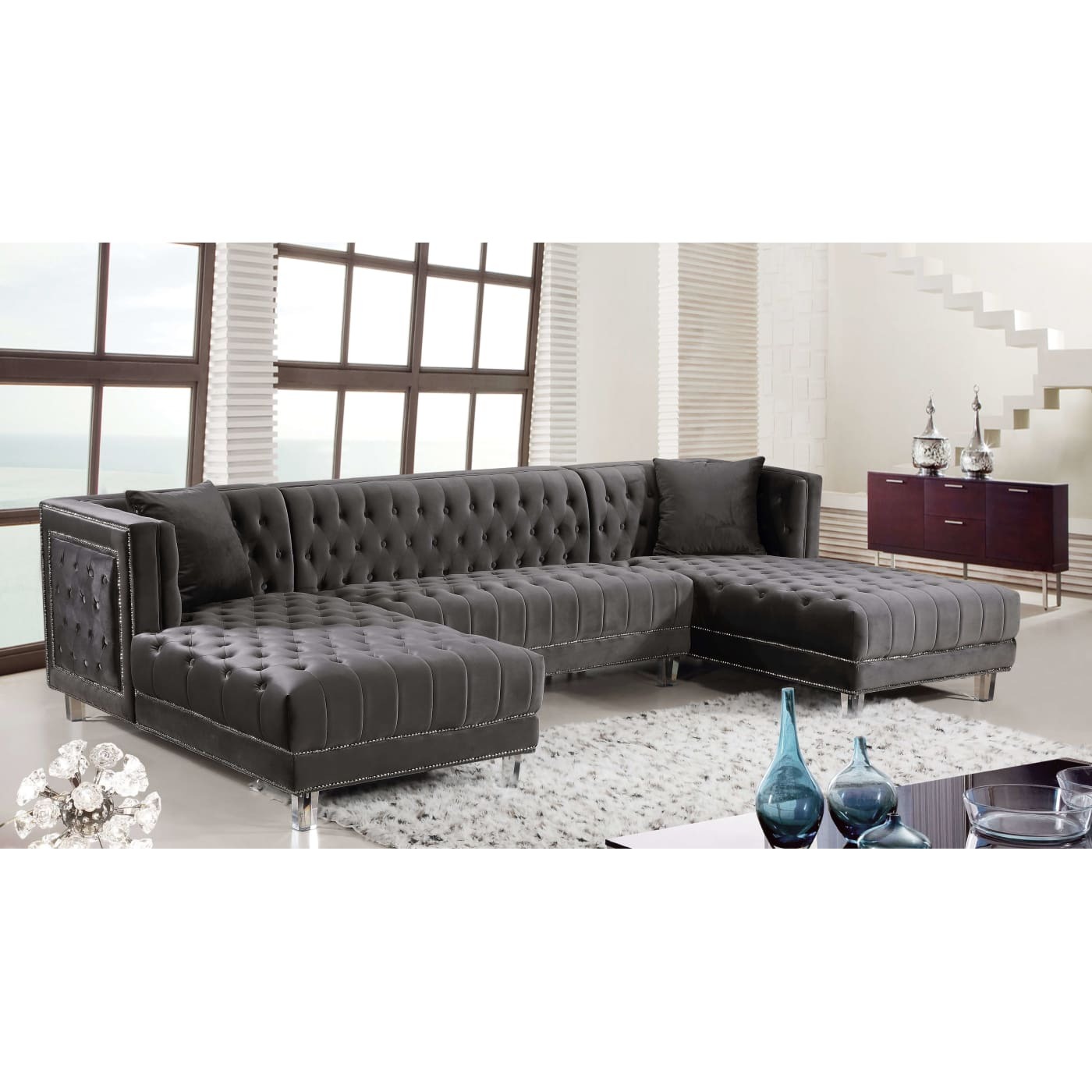 sleeper amazing paint sectional with the on artistic top lamp design oversized table elegant corner cushions four beside grey wooden gray sofa