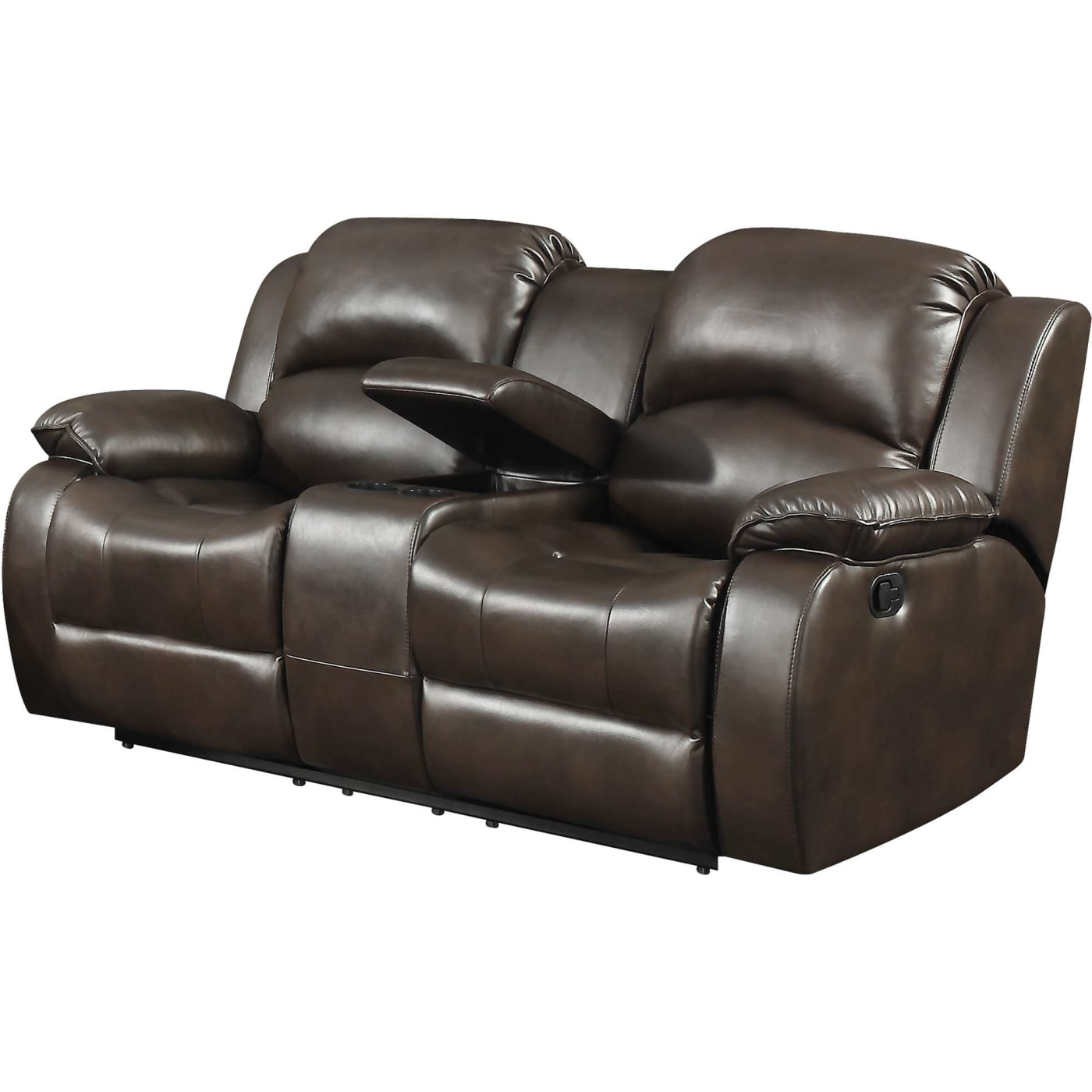 AC Pacific Samara Transitional Reclining Loveseat With Storage Console And  Cup Holders U0026 Reviews   Goedekers.com