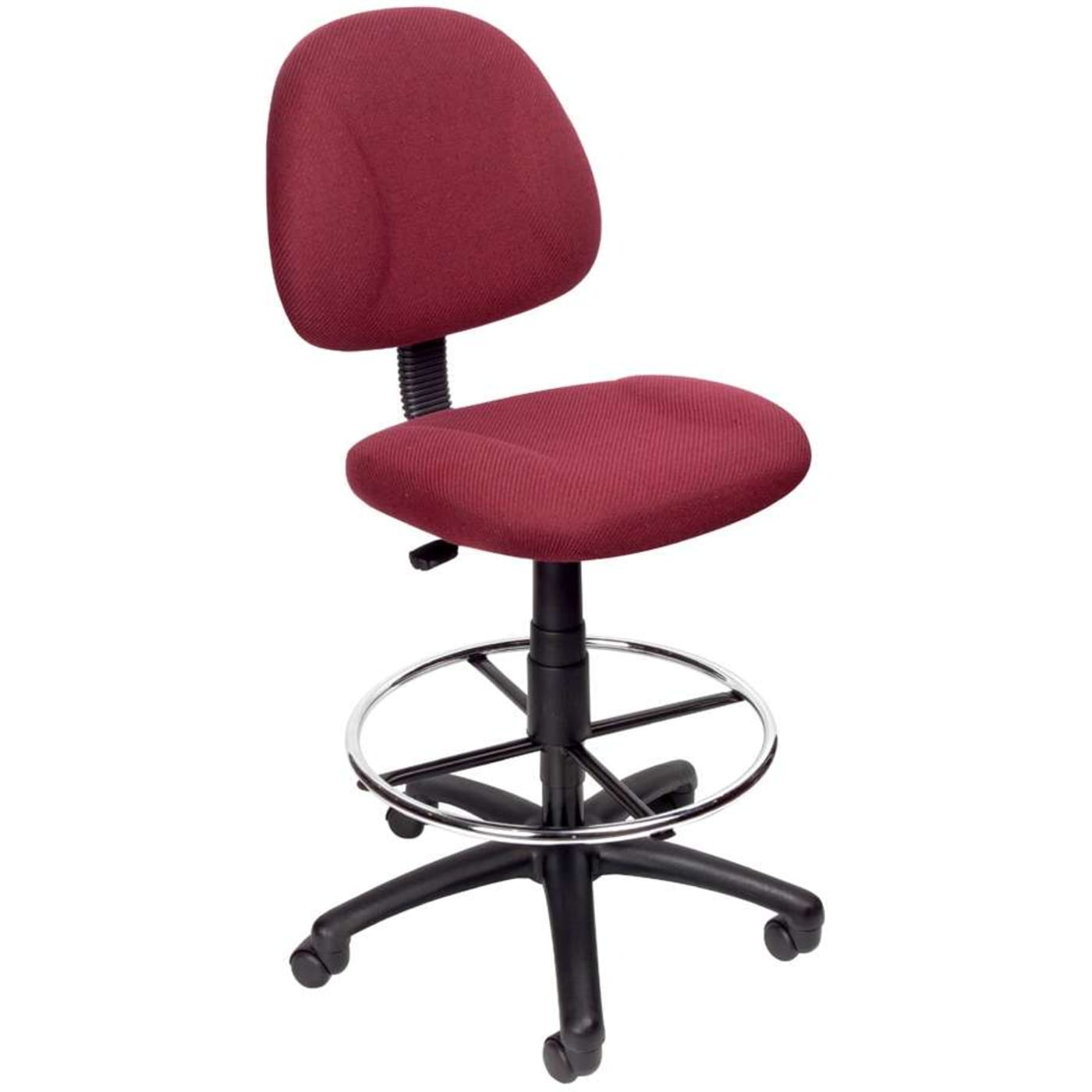Boss Office Products Burgundy Drafting Stool With Footring