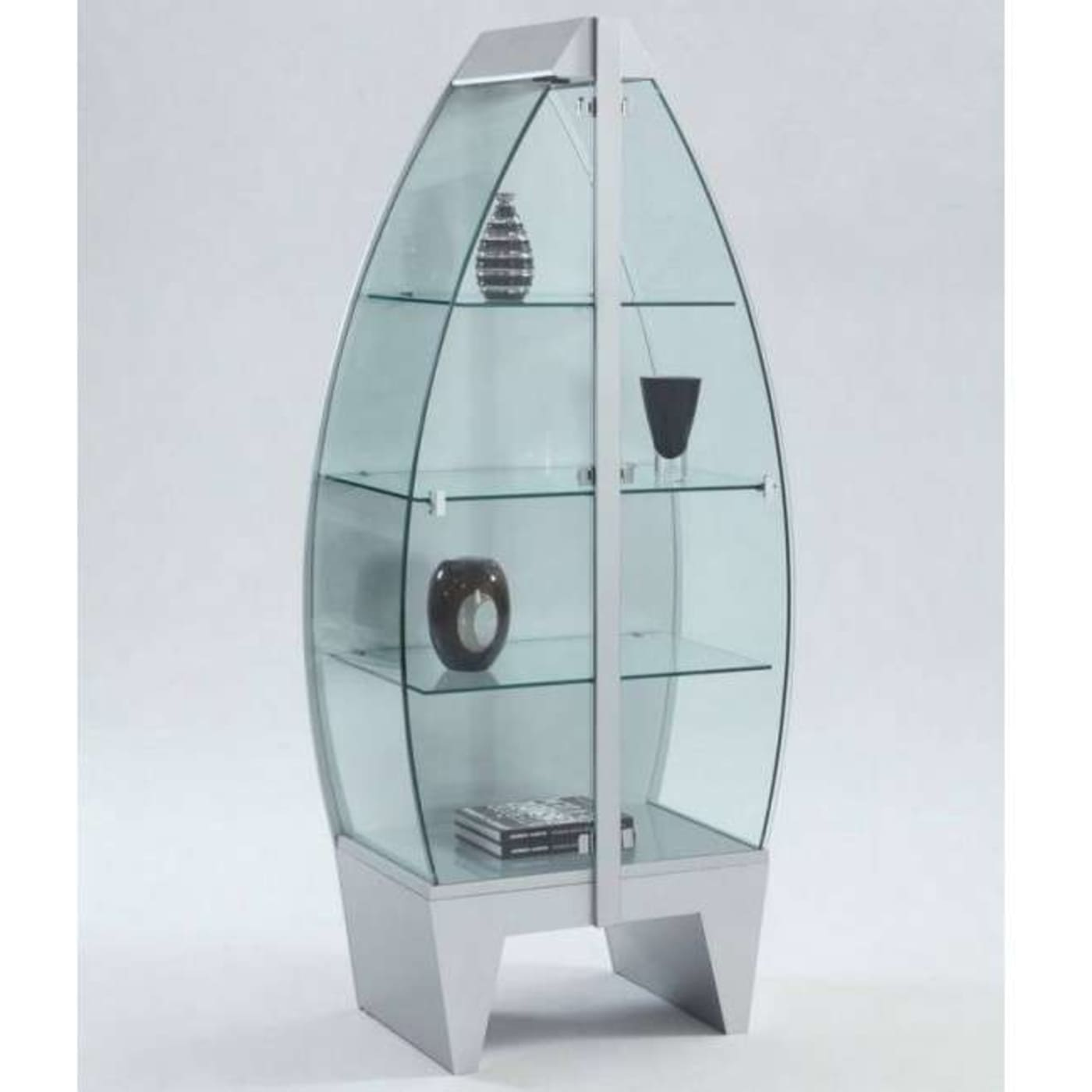 Merveilleux Steel Curio Cabinet. Chintaly 6648 CUR STL ...