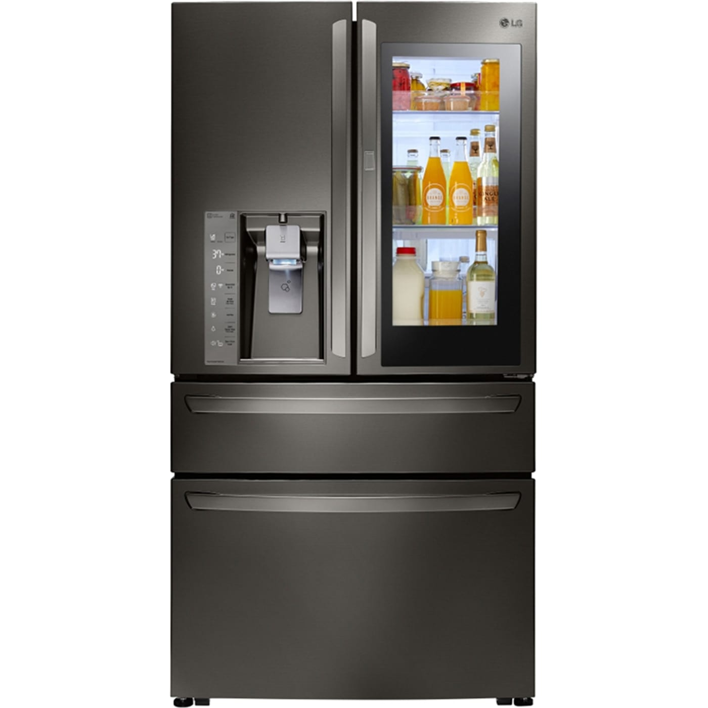 Lg Lmxs30796D 36 300 Cu Ft Black Stainless Steel French