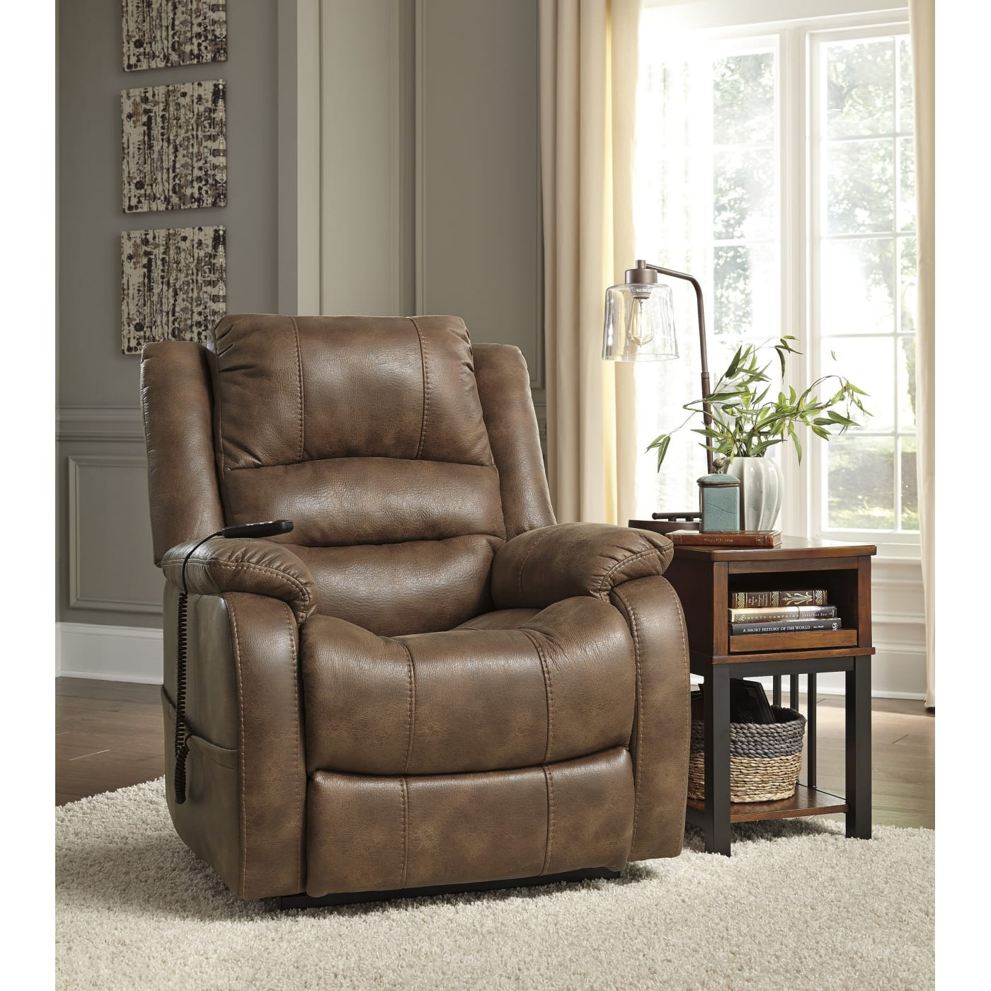 Ashley Furniture Discount Store: Signature Design By Ashley Yandel Saddle Power Lift