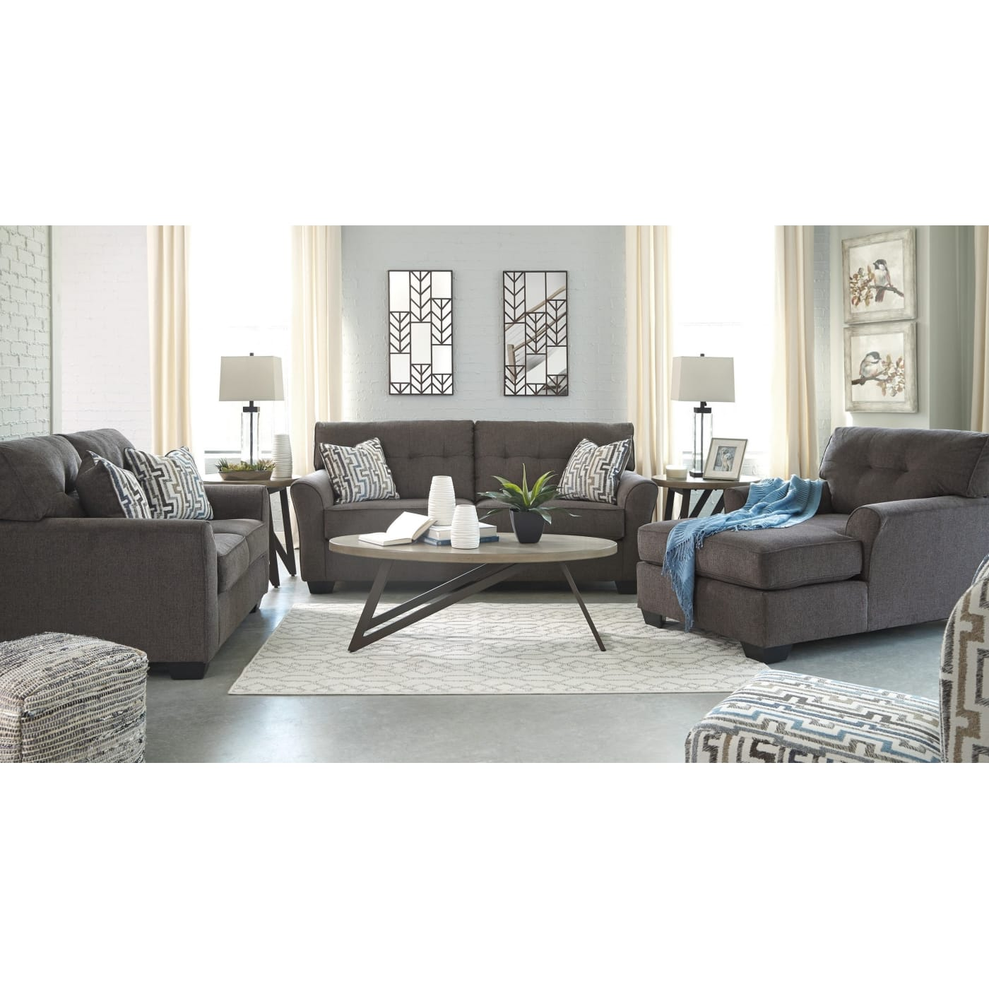 Alsen Granite 4 Piece Living Room Set