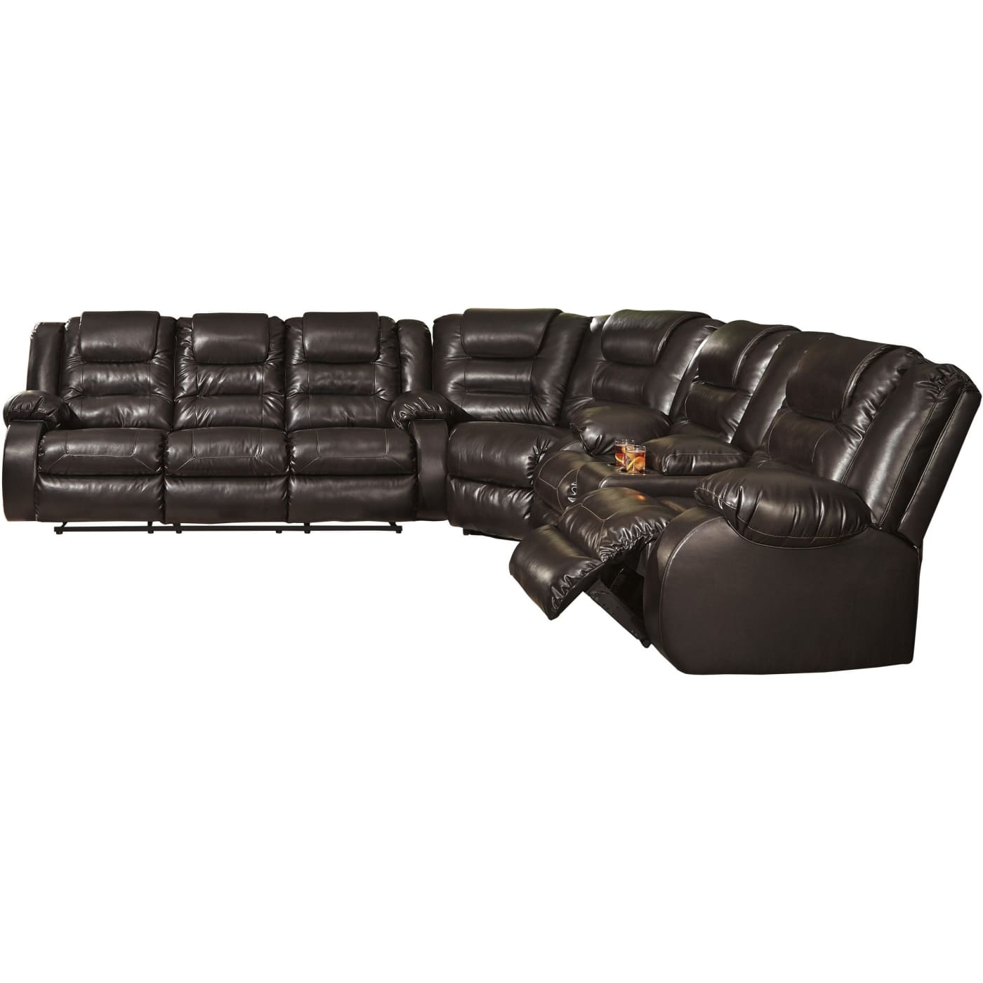 Signature Design by Ashley Vacherie Chocolate 3 Piece Living Room ...