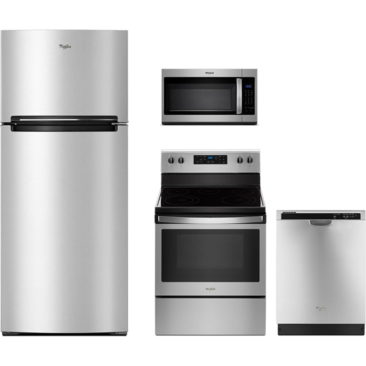 Whirlpool Four Piece Stainless Steel 30