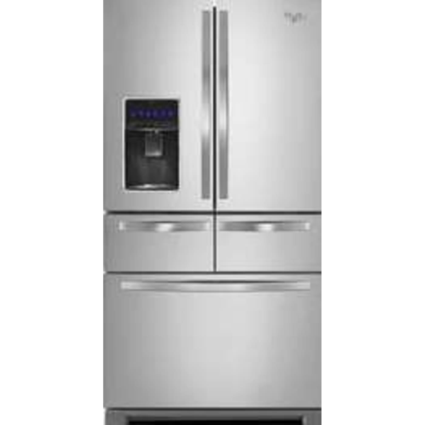 Delicieux Stainless Steel French Door Refrigerator. Whirlpool WRV986FDEM ...