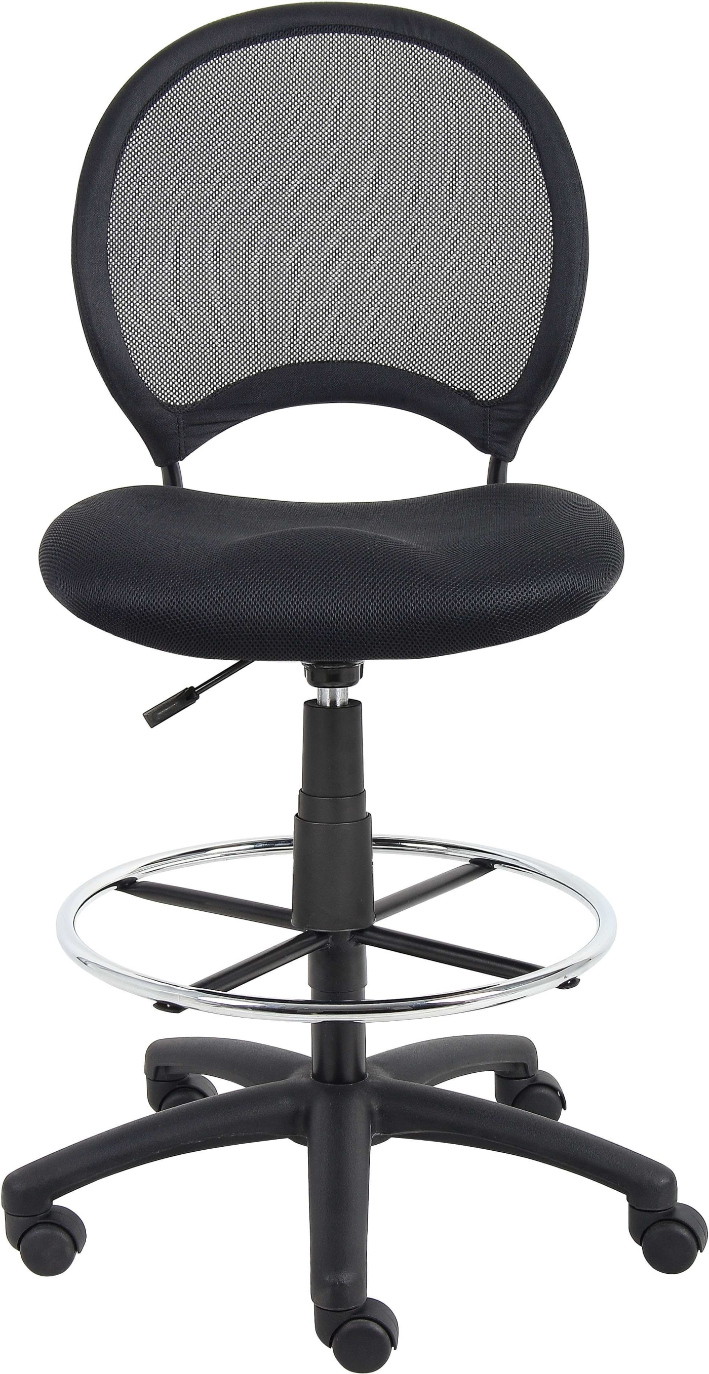 Boss Office Products Black Mesh Drafting Stool Amp Reviews
