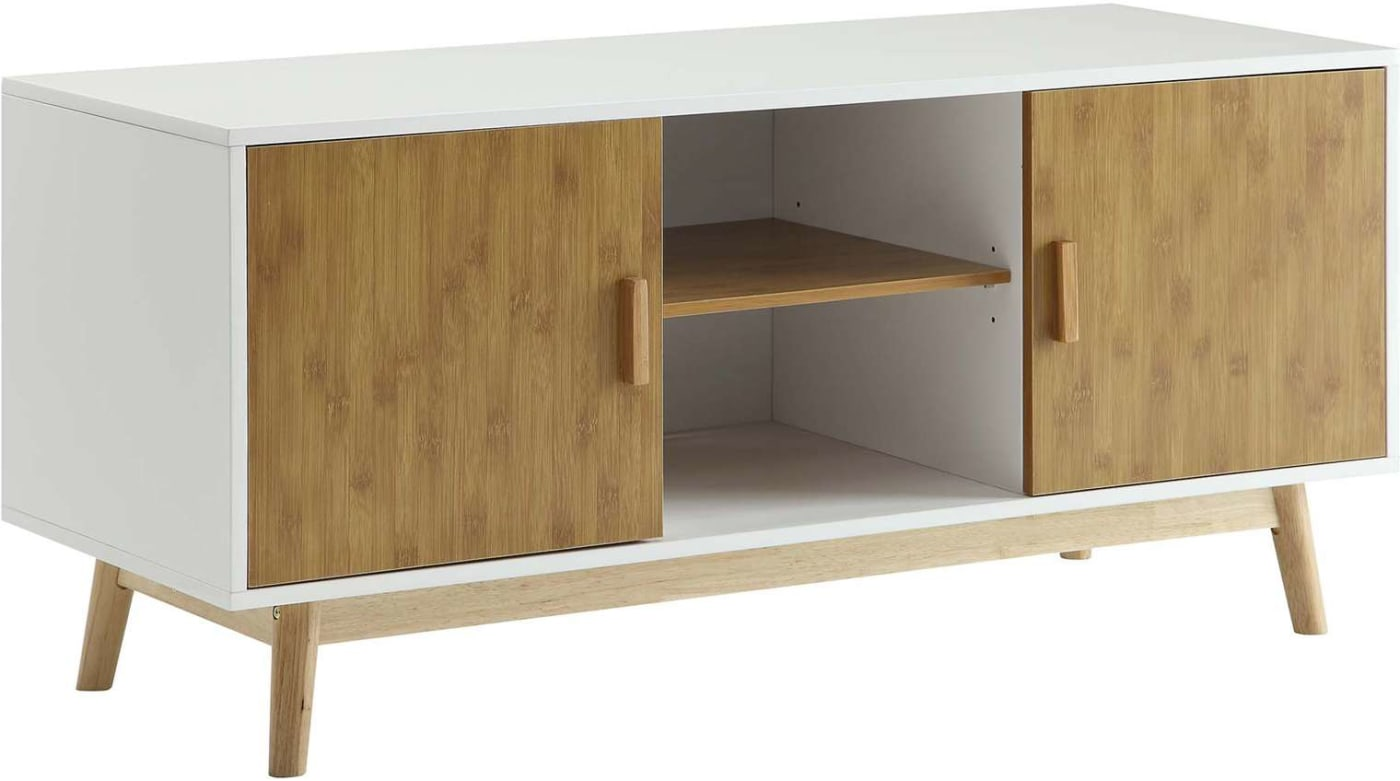 Convenience Concepts Oslo White Tv Stand Reviews Goedekers Com