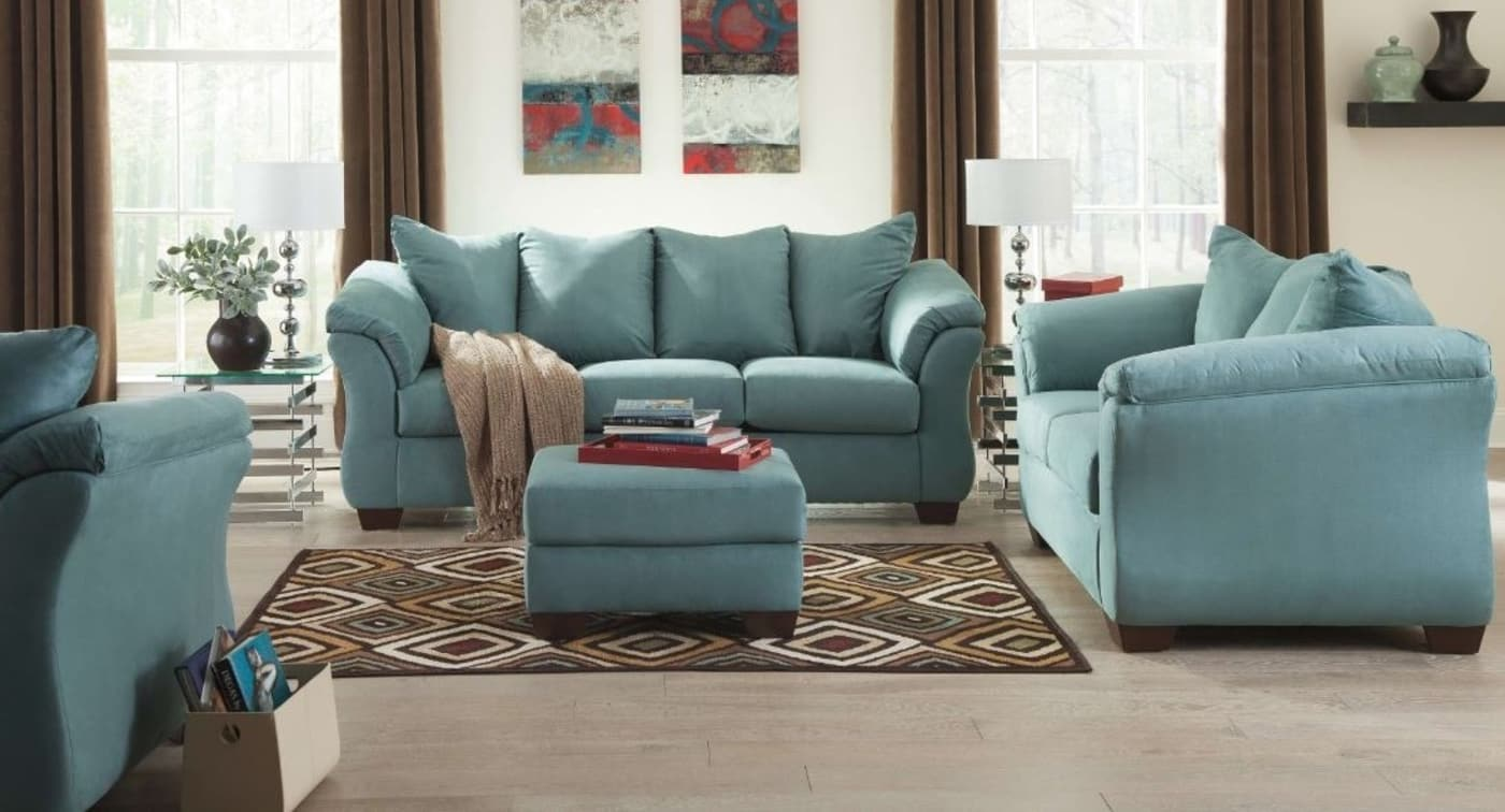 Signature Design By Ashley Darcy Sky 4 Piece Living Room