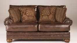 Signature Design by Ashley 9920035 Chaling Durablend Antique Brown Loveseat
