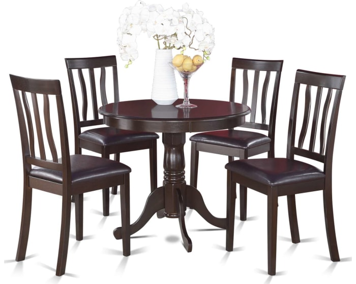 East West Furniture Antique 5 Piece Small Kitchen Table And Chairs Set Kitchen Table And 4 Dining Chairs Anti5 Cap Lc Goedekers Com