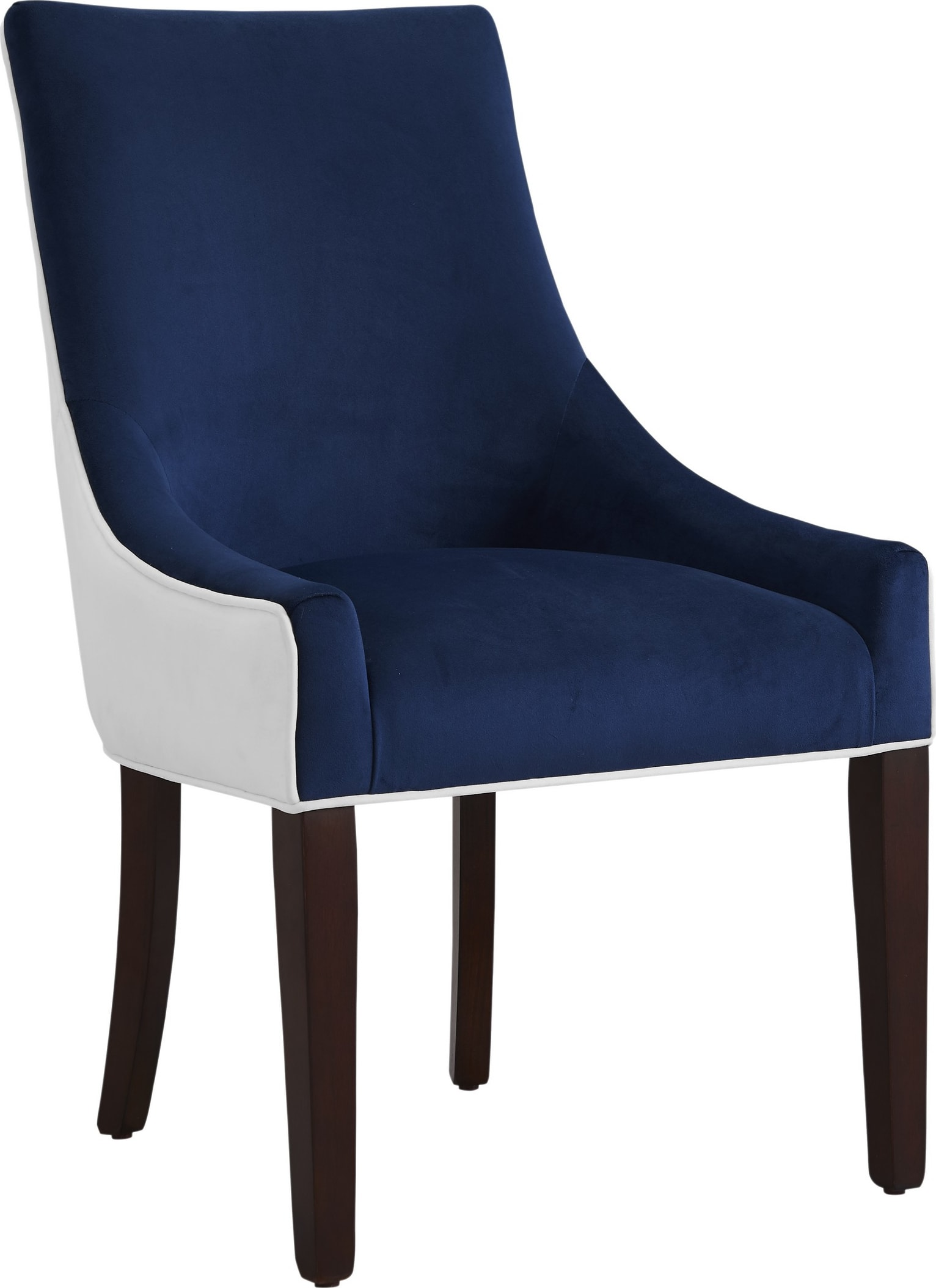 Picture of: Comfort Pointe Jolie Navy Blue Upholstered Dining Chair 8033 10 Goedekers Com