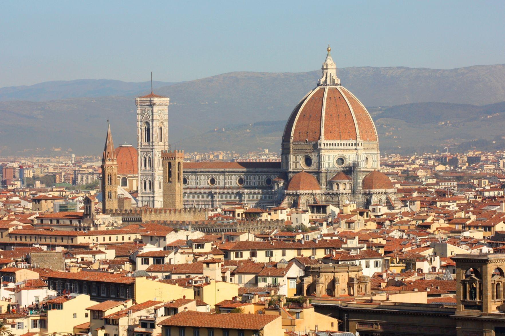 Florence Italy Skyline with Duomo