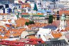 Aerial View of Rooftops in Bratislava