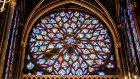 Stained Glass Windows in Sainte Chapelle Chapel in Paris