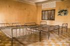 Interior of Tuol Slend with Metal Bed Frames