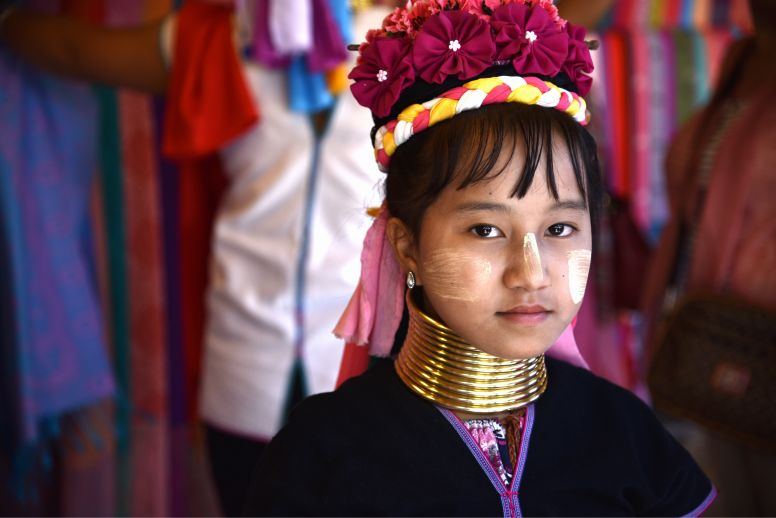 Karen Girl with a Long Neck in Chiang Mai