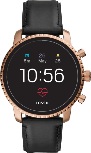 Rose Gold / Black Fossil Explorist HR (4th Generation).1