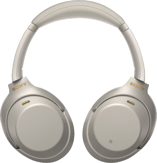 Silver Sony WH-1000 XM3 Over-ear Bluetooth Headphones.4
