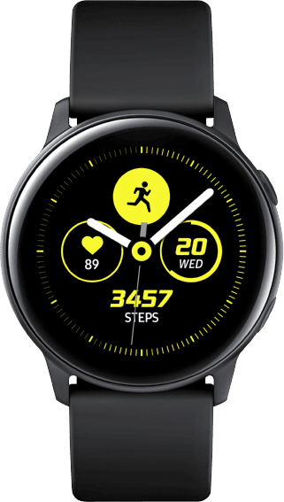Black Samsung Galaxy Watch Active, 40mm.1