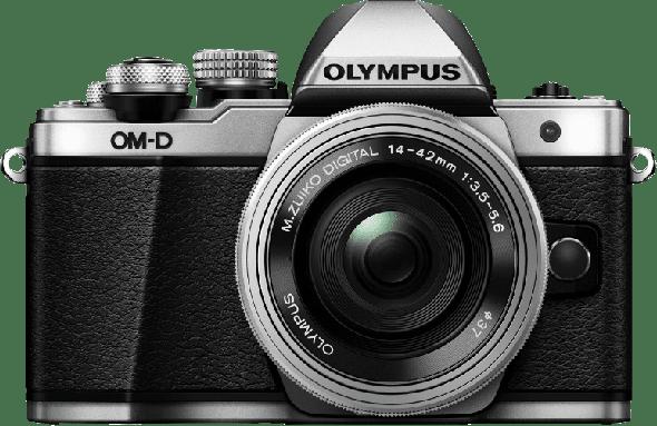 Silver Olympus Camera E-M 10 II M1442 PANCAKE KIT.1