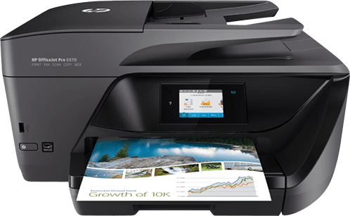 White HP All-in-One OfficeJet Pro 6970.1
