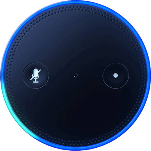 White Amazon Alexa Echo.2