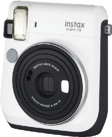 White Fujifilm Instax Mini 70.1
