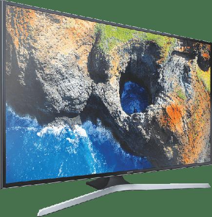 """Schwarz Samsung 75"""" TV.2"""