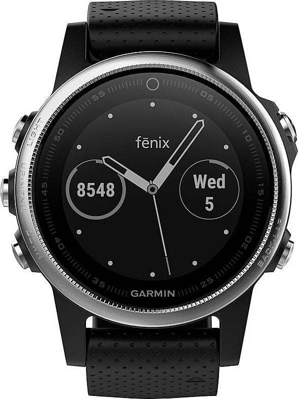 Black Garmin Fēnix® 5S, 220 mm.2