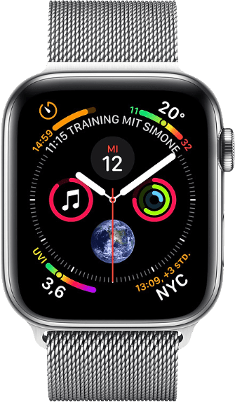 Milanese Stainless Apple Watch Series 4 GPS + Cellular, 40mm.1