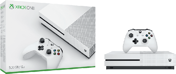 White Microsoft Xbox One S.2