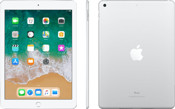 Silber Apple iPad Wi-Fi + Cellular (2018).1