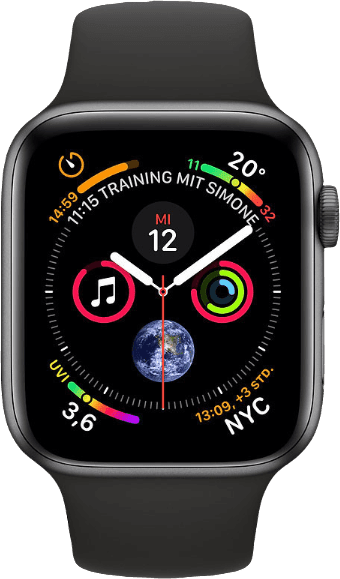 Space Grey / Black Sport Band Apple Watch Series 4 GPS, 44mm.1